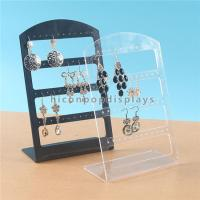 China Earring Display L Shape Pure Acrylic Retail Display Units for Accessories wholesale