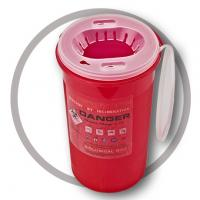 China 3 Litre Sharps disposal container, Sliding Lid, Red,Sharps Container  | WinnerCare wholesale