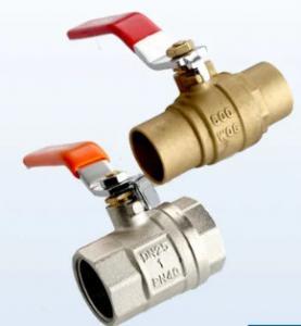 China 1/2 - 2 Inch Female Brass Ball Valve Iron Handle Sanitary Ball Valve wholesale