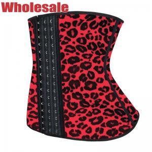 China Red Leopard Waist Cincher 6XL Plus Size Waist Shapewear Tummy Control wholesale