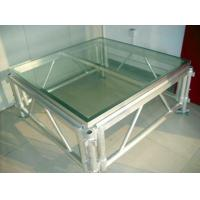 China Transparent Plexiglass Stage,auditorium glass stage for Wedding and Swimming Pool wholesale