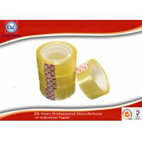 China Yellowish transparent Easy Tear 12mm BOPP Stationery Tape For Art School Student wholesale