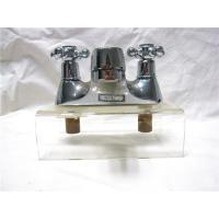 China Chrome Plated Kitchen Pull Out Faucet / 2 Hole Kitchen Taps For Hot & Cold Water wholesale