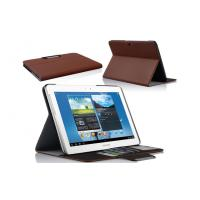 China Brown Samsung Galaxy Tab 3 Samsung Tablet leather Case With Lychee Pattern Customized wholesale