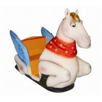 China Flying Horse Coin Kids Arcade Rides With Fiber Glass For Park YP-QF037 wholesale