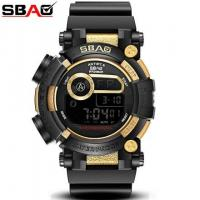 China Fashion Young Vogue Men Waterproof 30m Multifunction Chronograph Alarm Outdoor Wrist Watches 	S-8019-1 wholesale