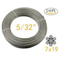 China Stainless Aircraft Steel 7x19 wire rope For Railing ,Decking, DIY Balustrade , 5/32Inch wholesale