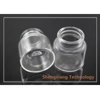 Quality 20ml high quality crimp neck borosilicate glass jar with wooden cork stopper , for sale