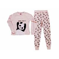 China Comfortable Winter Womens Long Sleeve Pajama Sets Animal Applique Embroidery wholesale