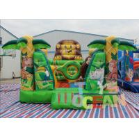 China Mini Indoor Lion Inflatable Bounce House For Safari Jungle Party 5X4M wholesale