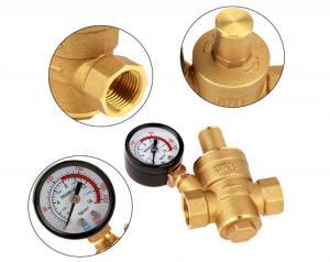 Buy cheap Adjustable DN15 Brass Water Pressure Regulator With Gauge Meter from wholesalers