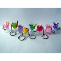 promotion lovely acrylic keychain liquid ice cream resin