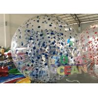 China Colorfull Dot Shinning Inflatable Zorb Ball For Outdoor Sport Game wholesale