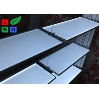 China Aluminum Slot LED Flat Panel Light Single Side LED Lite Shelf For Body Cream Display wholesale