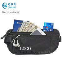 China Mens RFID Hidden Ripstop Nylon Money Belt Travel Black Color wholesale