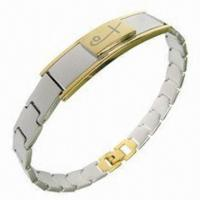 China Bracelet Jewelry, Hot-sale Healthy Bio-magnetic Style, Made of Titanium and 316L Steel Materials wholesale