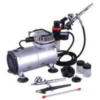 China Stable Air Flow Auto Stop Professional Low Noise Airbrush Tattoo Kit Machine for Body Art wholesale