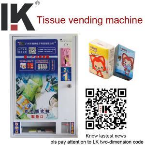 China LK-A1401 Wall mount tissue vending machine,mini vending machine wholesale