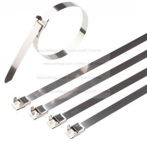 China Self Lock Easy Operation Fiber Optic Tools , Fiber Optic Components SS Cable Ties wholesale