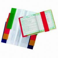 China Clear Book Covers with 1 Solid Color Flap, Made of PVC, Available in Various Sizes and Packing Types on sale