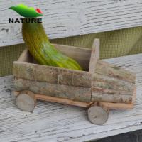 China Wooden Car Shaped Flower Plant for Garden wholesale