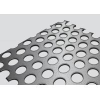 China Straight Row Perforated Corrugated Metal Panels 1.22x2.44m Panel Size Noise Reduction on sale