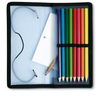 China pouch wooden color pencils set for kids from stationery manufacturer wholesale