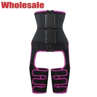 China 3XL 4XL Plus Size Waist Cincher 3 In 1 Waist And Thigh Trimmer Booty Sculptor wholesale