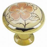 Buy cheap Zinc Alloy Insert Ceramic Knob with 33mm Diameter from wholesalers