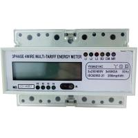 Quality 35mm Din Rail Three Phase KWH Meter YEM421AC With LCD Display Six Indicators for sale