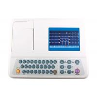 China Portable 12 Lead ECG Machine 3 Channel Color Display 5 Inch ECG Monitor wholesale
