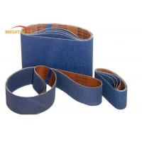 China Blue Butt Joint Metal Sanding Belts With Cotton Blend Cloth  P60 - P5000 Grit wholesale
