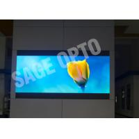 China Commercial Indoor Advertising Led Display Wall / Large 6mm Led Screen Super Clear Vision wholesale
