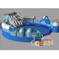 Quality Blue Inflatable Floating Water Park For Kid / Commercial Inflatable Amusement Park for sale