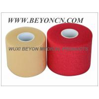 China PU Breathable Porous No Adhesive Sports Pre Wrap Foam Underwrap To Protect Skin on sale