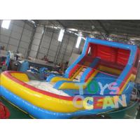China Commercial Bouncy Inflatable Water Slide Double Lane For Adults 10M wholesale