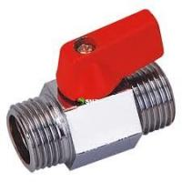 China 2/1,3/4,1 inch Mini Ball Valve Male and Male Red Handle -20℃ ~ 200℃ Working Temperature wholesale