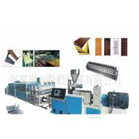 China Wpc Pvc Door And Window Profile Production Line / Wpc Profile Machine wholesale