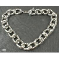 Quality Crystal Unisex Fashion Solid rhodium Chains Mixed Metal Necklace for Anniversary for sale