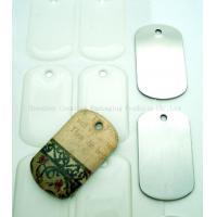 China 38.1x22.23mm Clear Epoxy Resin Stickers For Dog Tag wholesale