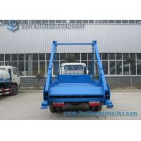 China 3 Ton- 4 Ton Yuejin small swing arm garbage truck 104 hp 2 axles on sale