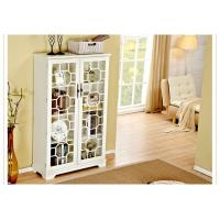 China Bookcase With Glass Doors , Trustic All White Bookcase Cabinet wholesale