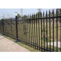 China Powder Coated Security Picket Tubular Steel Fence , Ornamental Fence Panels wholesale