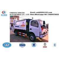China Dongfeng 4*2 small compactor garbage truck for sale in Sri Lanka, Factory sale good price 5M3 rear loader garbage truck on sale
