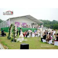 China 20x60m 1000 People Aluminum Luxury Wedding Tents With Marriage Decoration wholesale