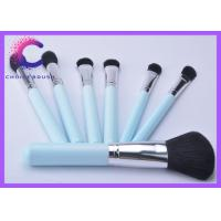 Quality Traveling mini Ligh blue 7 piece makeup brush set / brushes kit for sale