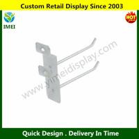 China Water & Wood 2 Pcs Bedroom Jewelry Towels Hanger Display Hook Silver Tone YM6-070 wholesale
