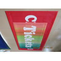 China Digital Four Color Print Outdoor Mesh Banners Hemmed Edge With Metal Eyelets wholesale