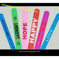 China OEM factory promotion gift PVC slap band/PVC slap bracelet/ reflective slap band wholesale