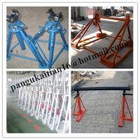 China Cable drum trestles, made of cast iron,Jack towers,Cable Drum Lifting Jacks wholesale